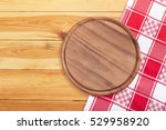 pizza board with napkin on... | Shutterstock . vector #529958920