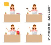 business people working at... | Shutterstock .eps vector #529962094