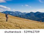 father with child in the... | Shutterstock . vector #529962709