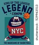 cool monster basketball player ...   Shutterstock .eps vector #529963513