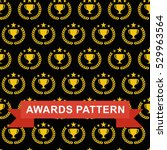 seamless pattern with gold... | Shutterstock .eps vector #529963564