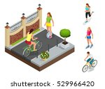 part of the street with a fence ... | Shutterstock .eps vector #529966420