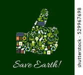 save earth ecology poster.... | Shutterstock .eps vector #529967698