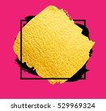vector golden brush stroke for... | Shutterstock .eps vector #529969324