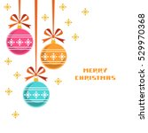 christmas decoration with... | Shutterstock . vector #529970368