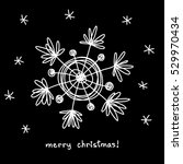 christmas doodle snowflake.... | Shutterstock . vector #529970434