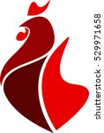 rooster logo. cock icon. new... | Shutterstock .eps vector #529971658