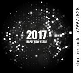 happy new year 2017 abstract... | Shutterstock .eps vector #529975828