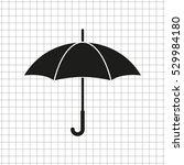umbrella    black vector icon | Shutterstock .eps vector #529984180