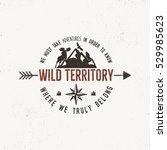 Vintage Wild Emblem. Retro...