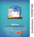 set of flat design illustration ... | Shutterstock .eps vector #529987483