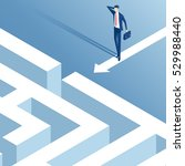 isometric businessman stood in... | Shutterstock .eps vector #529988440
