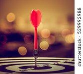 target dart with arrow over... | Shutterstock . vector #529992988
