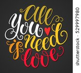 all you need is love doodle... | Shutterstock .eps vector #529997980