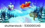 trendy modern merry christmas... | Shutterstock .eps vector #530000140