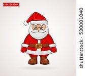 santa claus. cute cartoon... | Shutterstock .eps vector #530001040