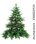 bare christmas tree isolated on ... | Shutterstock . vector #530002924