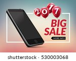 super sale phone banner. mobile ... | Shutterstock .eps vector #530003068