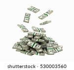 stack of money american dollar... | Shutterstock . vector #530003560