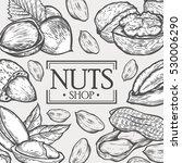organic nuts food shop vector... | Shutterstock .eps vector #530006290
