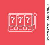 casino slot machine line icon... | Shutterstock .eps vector #530015830