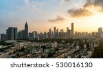cityscape and sunshine in... | Shutterstock . vector #530016130
