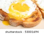 Fried Egg On Thick Toast.