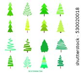 geometric art. green christmas... | Shutterstock .eps vector #530020018