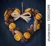 Dried Orange And Pine Cones...