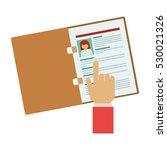 document of human resources...   Shutterstock .eps vector #530021326