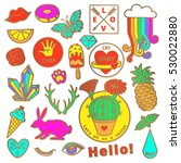 fashion badge elements in... | Shutterstock .eps vector #530022880