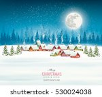 winter village night christmas... | Shutterstock .eps vector #530024038