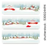 holiday christmas banners with... | Shutterstock .eps vector #530024494