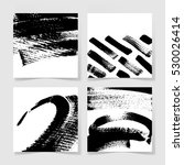 set of four black ink brushes... | Shutterstock .eps vector #530026414