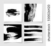 set of four black ink brushes... | Shutterstock .eps vector #530026420