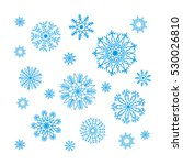 christmas snowflakes collection ... | Shutterstock .eps vector #530026810