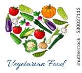 heart of vegetables. vector... | Shutterstock .eps vector #530027113