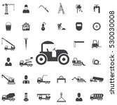 road roller icon. construction... | Shutterstock .eps vector #530030008