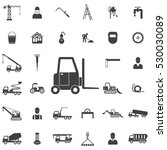 Forklift Icon. Construction...
