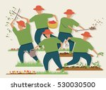 vector illustration of a busy... | Shutterstock .eps vector #530030500