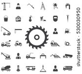 saw icon. construction icons... | Shutterstock .eps vector #530030950