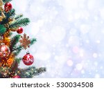 christmas tree background and... | Shutterstock . vector #530034508