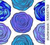 vector violet and blue rose...   Shutterstock .eps vector #530037763