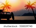 silhouette vintage car in the... | Shutterstock . vector #530039740