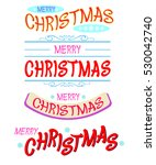 merry christmas text image and... | Shutterstock .eps vector #530042740