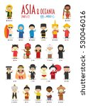 kids and nationalities of the... | Shutterstock .eps vector #530046016