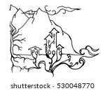 semi abstract monochrome town... | Shutterstock .eps vector #530048770