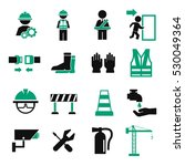 safety first icon set | Shutterstock .eps vector #530049364