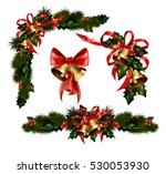 christmas decorations with fir... | Shutterstock .eps vector #530053930