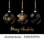 black christmas decoration... | Shutterstock .eps vector #530053954